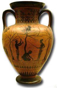 Olive-gathering Vase, 520 BC